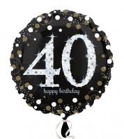 "Runder Folienballon ""Sparkling Celebration"" - 40. Geburtstag"