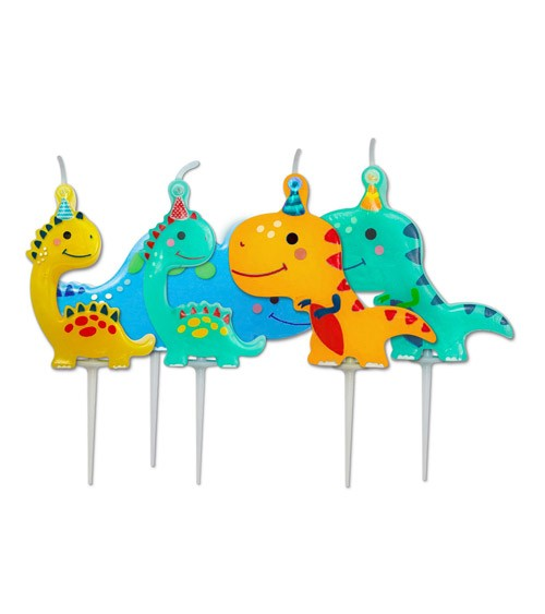 """Kuchenkerzen """"Party-Dinos"""" - 5-teilig"""