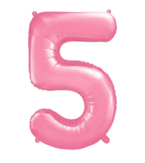 "Supershape-Folienballon ""5"" - rosa - 86 cm"