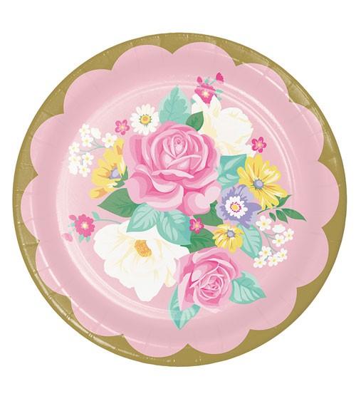"Pappteller ""Floral Tea Party"" - 8 Stück"