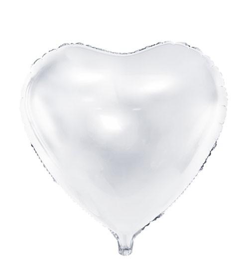 Herz-Folienballon - weiß - 61 cm