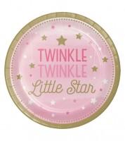 """Pappteller """"One Little Star - Girl"""" - 8 Stück"""