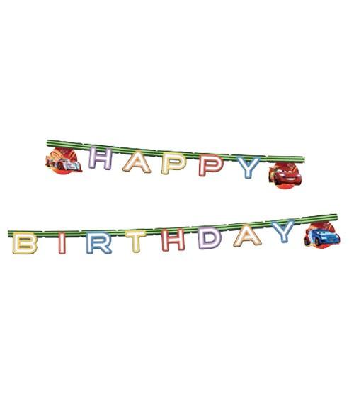 "Happy Birthday-Girlande ""Cars Neon"" - 2,2 m"