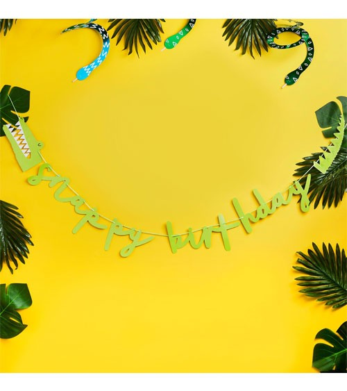 "DIY Schriftzug-Girlande ""Snappy Birthday"" - 2 m"