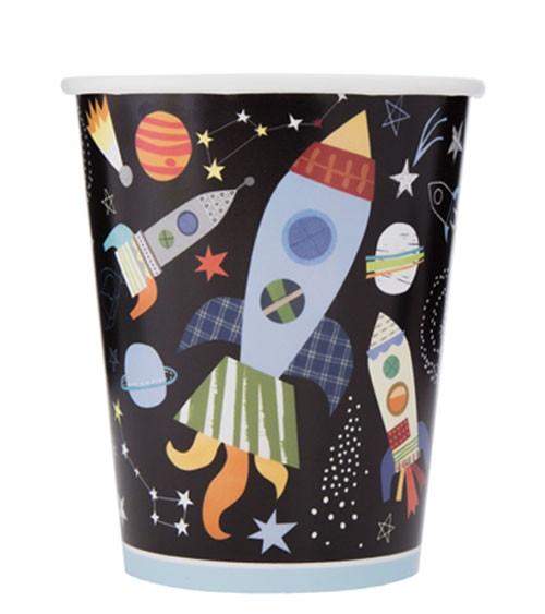 """Pappbecher """"Outer Space"""" - 8 Stück"""