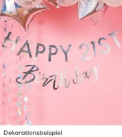 "Individualisierbare DIY-Girlande ""Happy Birthday"" - irisierend"