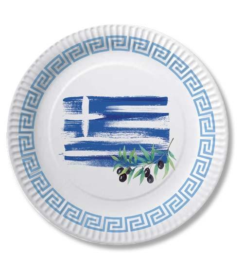 """Pappteller """"Griechenland"""" - 10 Stück"""
