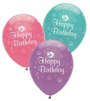 "Luftballon-Set ""Meerjungfrau"" - Happy Birthday - 6 Stück"