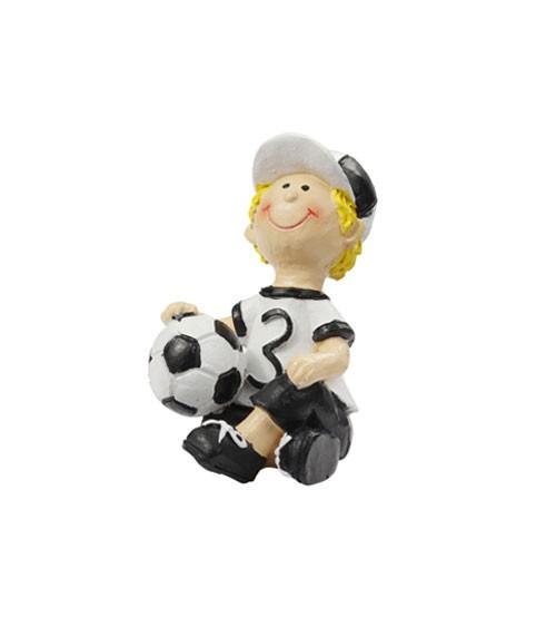 """Deko-Figur """"Fußballer sitzend"""" - 6 cm"""