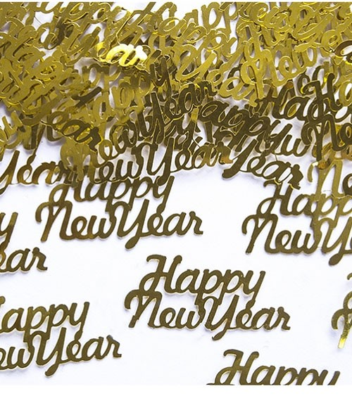 "Metallic-Konfetti ""Happy New Year"" - gold - 3 g"