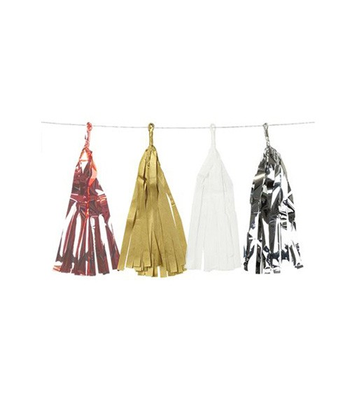 "Tassel-Girlande ""Metallic"" - 3 m"