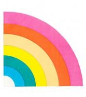 """Regenbogen-Servietten """"Birthday Brights"""" - 16 Stück"""