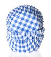 "50 Papierförmchen ""Vichy-Karo"" - blau"