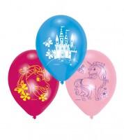 "Luftballon-Set ""Einhorn-Zauber"" - rosa/pink/blau - 6 Stück"