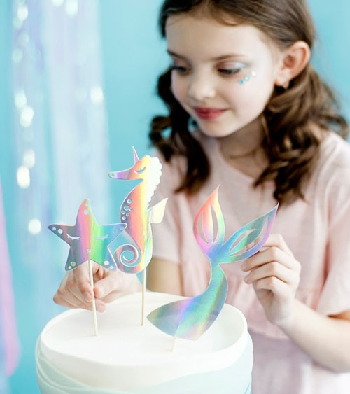 "DIY Cake-Topper ""Mermaid Party"" - 3-teilig"