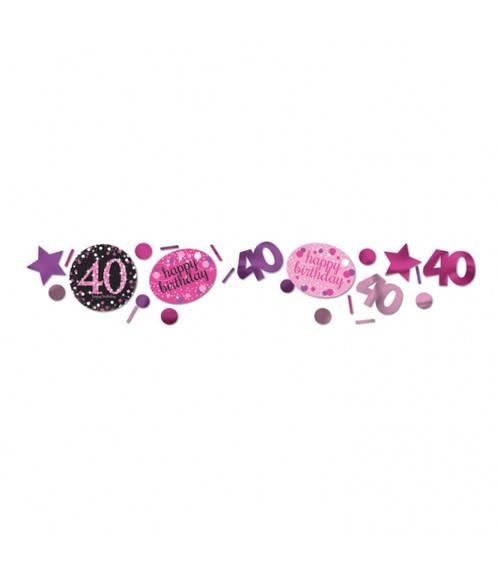 """Konfetti """"Sparkling Pink"""" - 40. Geburtstag - 34 g"""