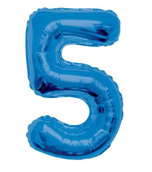 "Supershape-Folienballon ""5"" - dunkelblau"