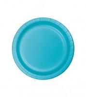 Kleine Pappteller - bermuda blue - 24 Stück