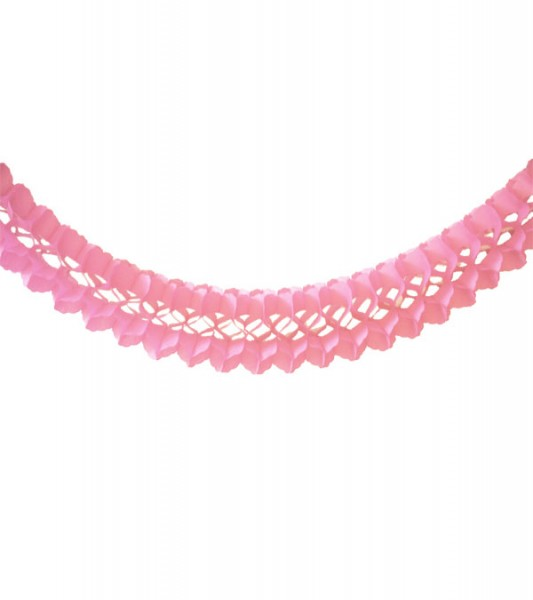Seidenpapiergirlande - rosa - 4 m