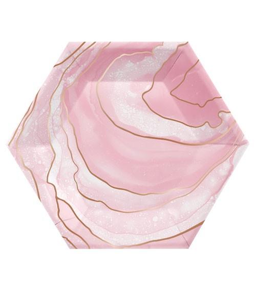 """Sechseckige Pappteller """"Rosé All Day"""" - Geo - 8 Stück"""