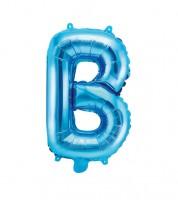 """Folienballon Buchstabe """"B"""" - blau - 35 cm"""