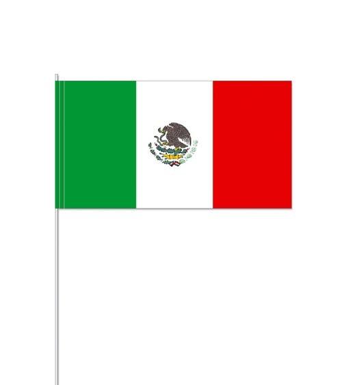 "Papierflaggen ""Mexico"" - 10 Stück"