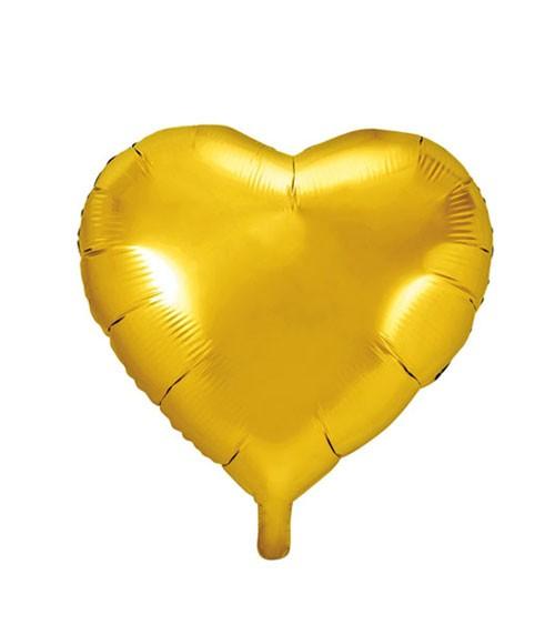 Herz-Folienballon - gold - 45 cm