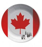 """Pappteller """"Kanada"""" - 10 Stück"""