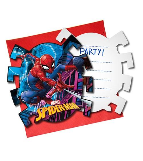 """Einladungskarten """"Spiderman - Team Up"""" - 6 Stück"""