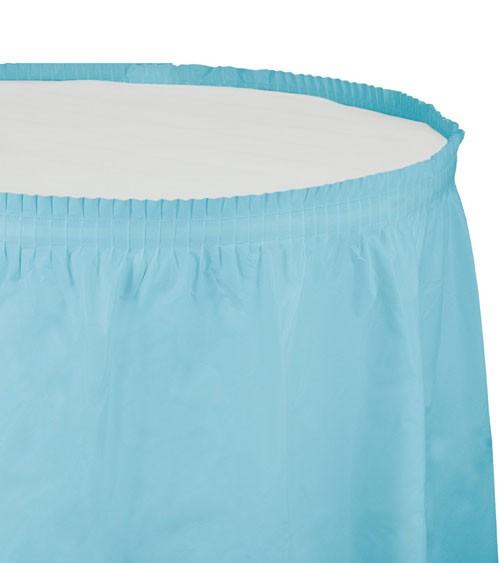 Tischverkleidung - pastellblau - 4,26 m