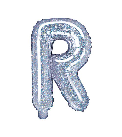 "Folienballon Buchstabe ""R"" - holographic - 35 cm"
