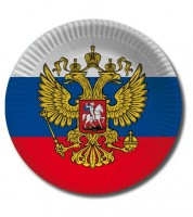 """Pappteller """"Russland"""" - 10 Stück"""