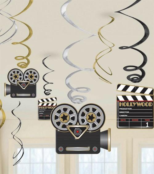 """Spiralgirlanden """"Kamera und Regieklappe"""" - 12 Stück"""