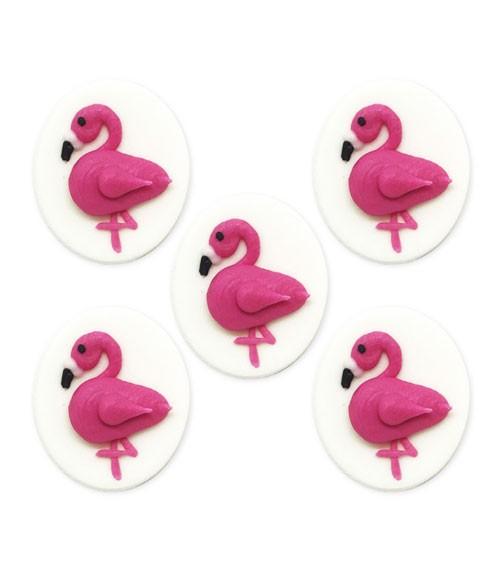 "Zuckerdekor ""Pink Flamingo"" - 5 Stück"