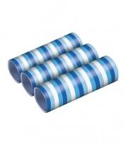 """Papierluftschlangen """"Farbmix Blau"""" - 3 Stück"""