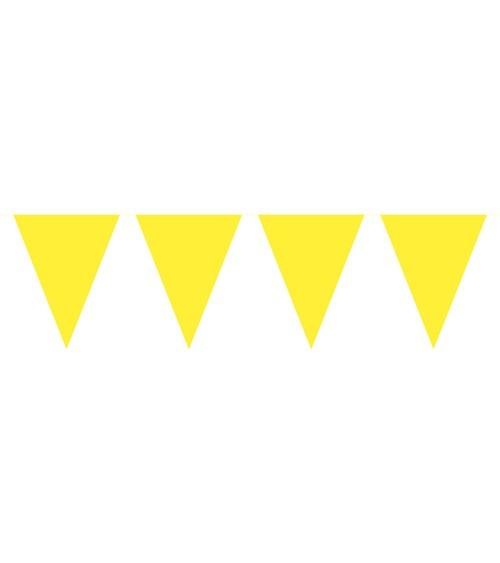 Mini-Wimpelgirlande aus Kunststoff - gelb - 3 m