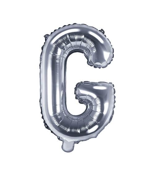"""Folienballon Buchstabe """"G"""" - silber - 35 cm"""