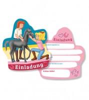 """Einladungskarten """"Bibi und Tina"""" - 6 Stück"""