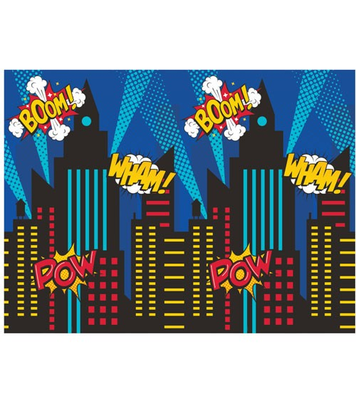 """Photobooth-Hintergrund """"Superheld"""" - 182 x 137 cm"""
