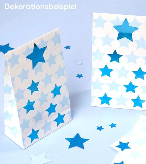 """Partytüten mit Sticker """"Little Star Blue"""" - 5 Stück"""
