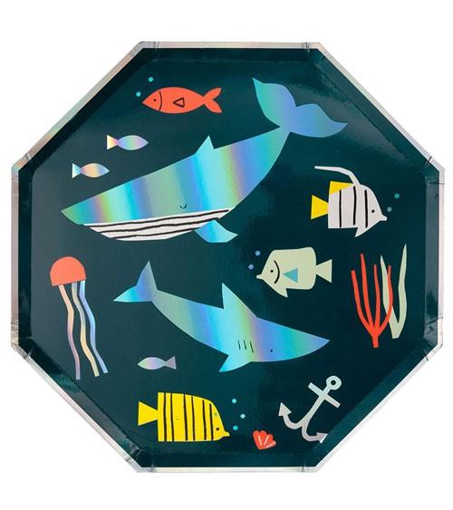 """Achteckige Pappteller """"Under the Sea"""" - 8 Stück"""