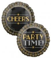 "Folienballon ""20er Jahre"" - Cheers/Party Time - 43 cm"