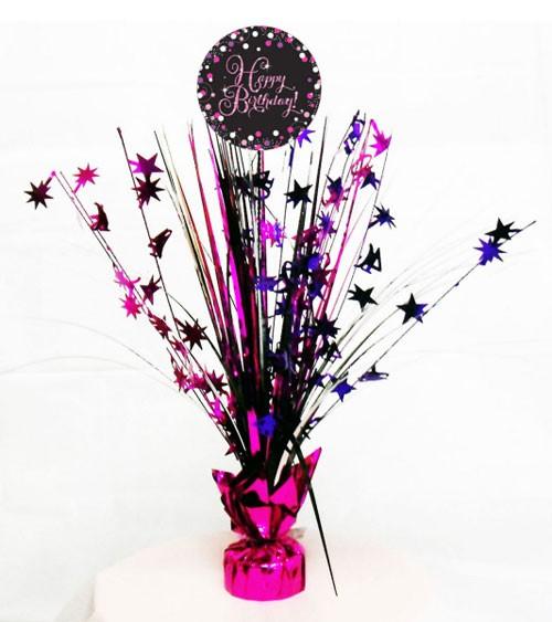 """Tischaufsteller """"Sparkling Pink"""" - Happy Birthday"""