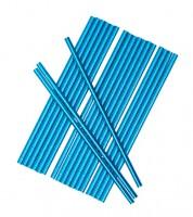 Papierstrohhalme - metallic blau - 25 Stück