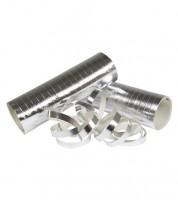 Luftschlangen - metallic silber - 3 Stück