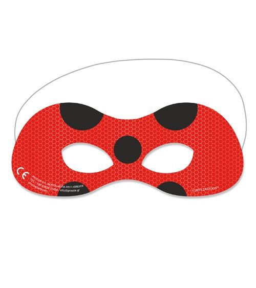 """Masken """"Miraculous Ladybug"""" - 6 Stück"""