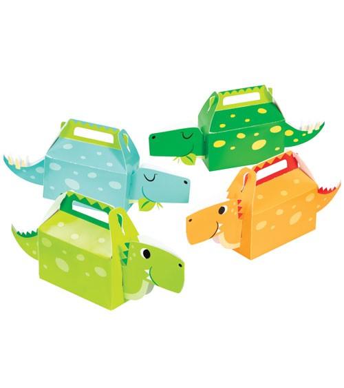 "Süßigkeitenboxen-Set ""Lustige Dinos"" - Farbmix Grün - 4-teilig"
