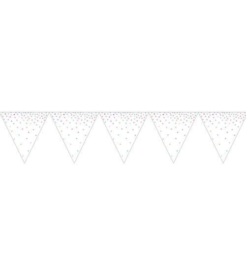"""Wimpelgirlande """"Iridescent"""" - 2,74 m"""