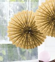 Papier-Deko-Fächer - 45 cm - gold