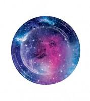 """Kleine Pappteller """"Galaxy-Party"""" - 8 Stück"""